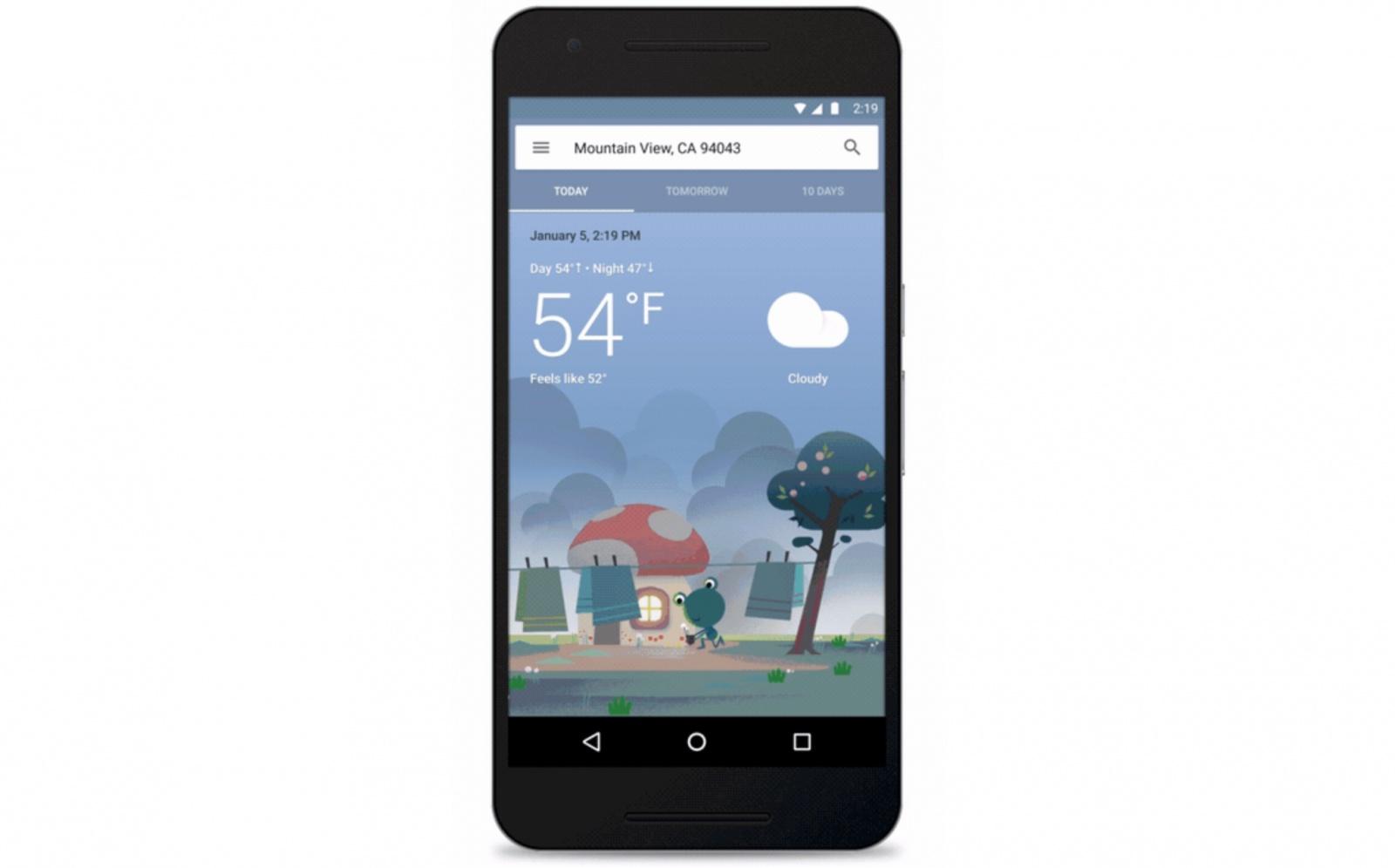 Google พัฒนารูปแบบของแอพพลิเคชั่นพยากรณ์อากาศรูปแบบใหม่ไฉไลกว่าเดิม!