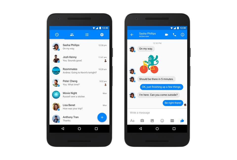 Facebook Messenger แปลงโฉมใหม่ ไฉไลกว่าเดิมบน Android OS