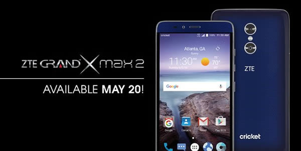 ZTE เปิดตัว Grand X Max 2 สมาร์ทโฟนหน้าจอใหญ่สะใจ 6 นิ้ว มาพร้อมหลังคู่