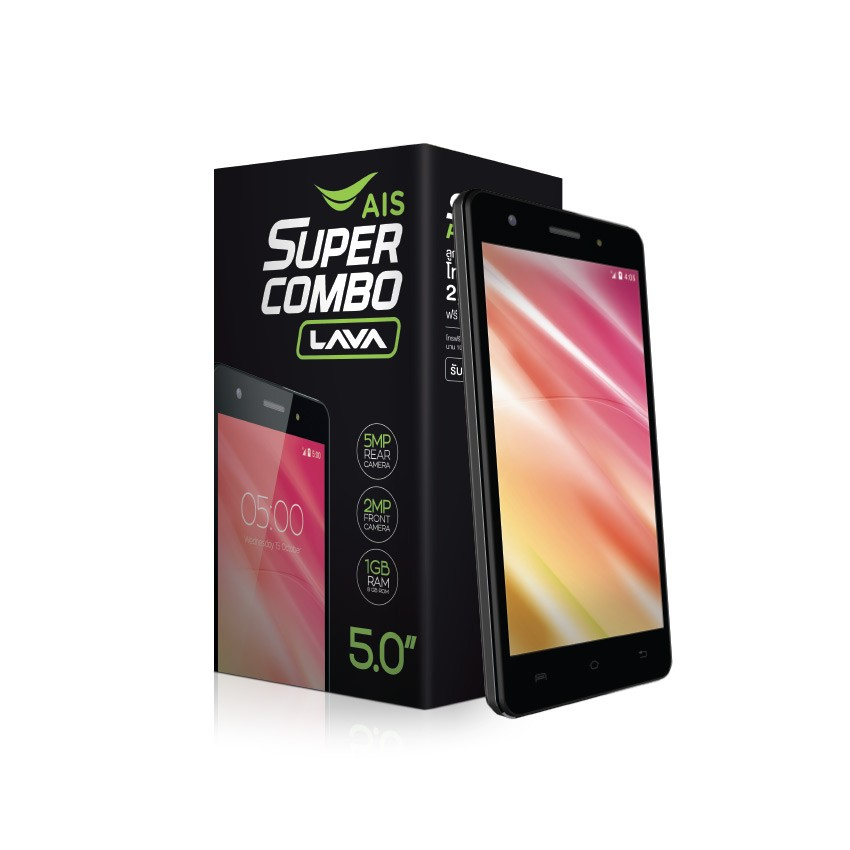 AIS Super Combo LAVA Iris 810 สมาร์ทโฟน 3G สเปคเบาๆ ราคาสบายกระเป๋า