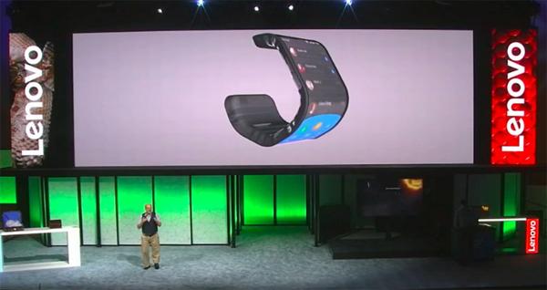 Lenovo โชว์ต้นแบบสมาร์ทโฟนและแท็บเล็ตแบบโค้งงอและพับได้