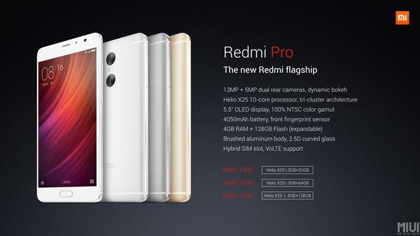 Xiaomi เปิดตัว Redmi Pro สมาร์ทโฟนแอนดรอยด์รุ่นท็อป สเปคแรง แต่ราคาไม่แพง