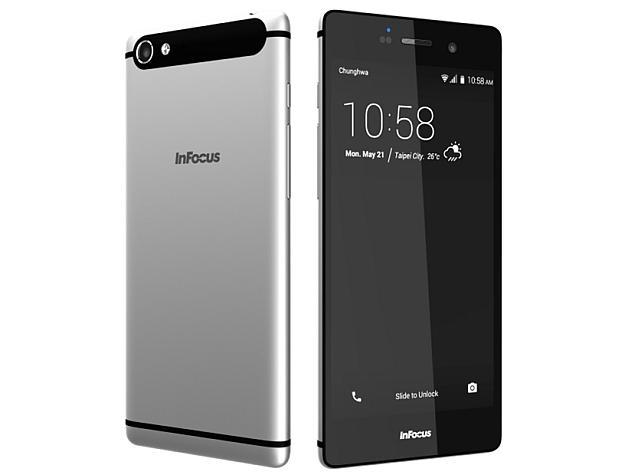 InFocus M808 สมาร์ทโฟนแอนดรอยด์ สเปคระดับกลาง  หน้าจอแสดงผล IPS ขนาด 5.2 นิ้ว ความละเอียด Full HD ,RAM 2GB, ROM 16GB, แบตเตอรี่ขนาด 2450mAh