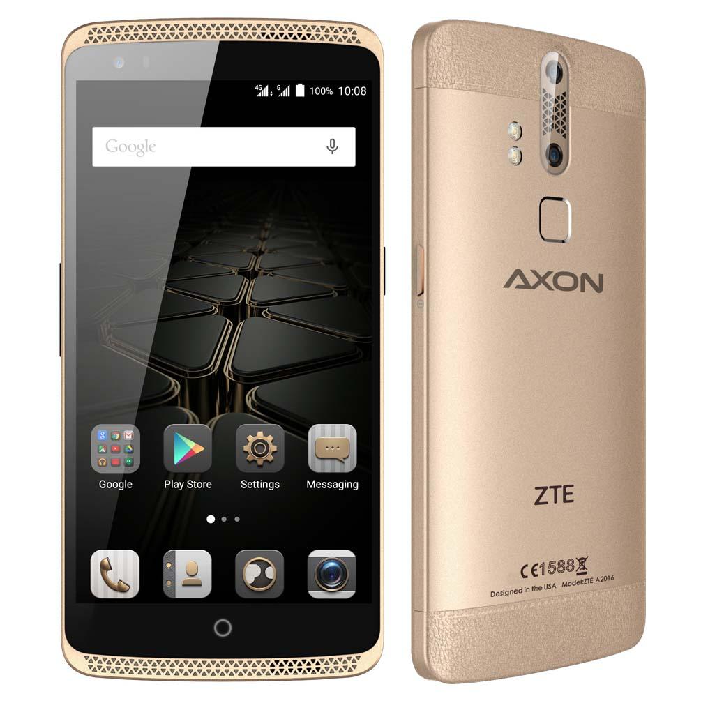 ZTE Axon สมาร์ทโฟนสเปคแรง มาพร้อมกล้องหลังคู่ บนหน้าจอ 5.5 นิ้ว ความละเอียด Full-HD แบตเตอรี่ความจุ 3,000 mAh
