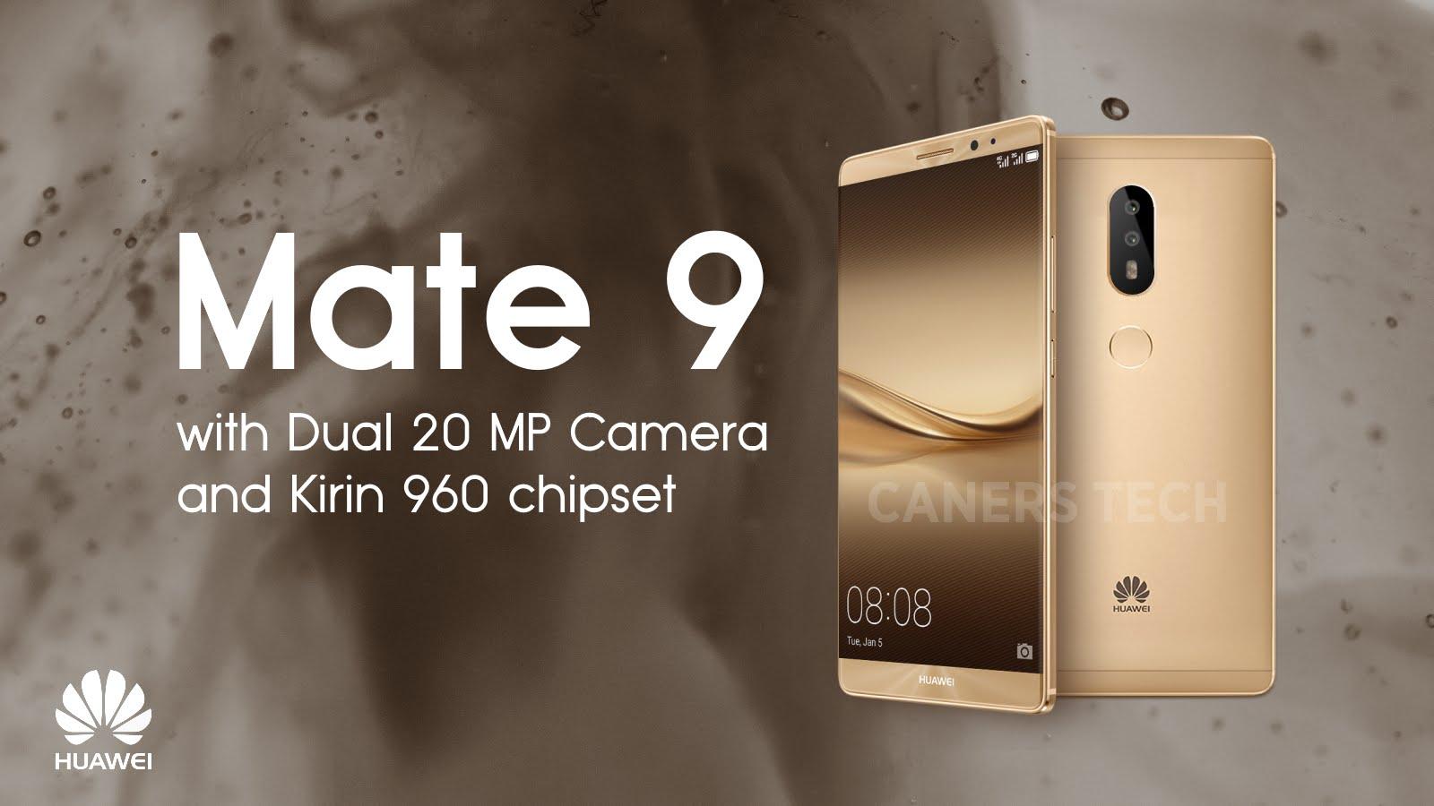 เผยชัดๆ! ภาพเรนเดอร์ Huawei Mate 9 ว่าที่สมาร์ทโฟนรุ่นท็อปล่าสุดจาก Huawei