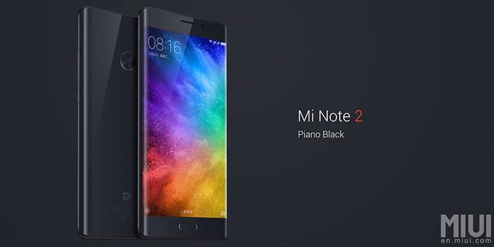 เปิดตัวสมาร์ทโฟนใหม่ล่าสุด Xiaomi Mi Note 2 สเปคจัดเต็ม จอขอบโค้ง 5.7 นิ้ว QuadHD กล้องหลัง 22.56 ล้านพิกเซล