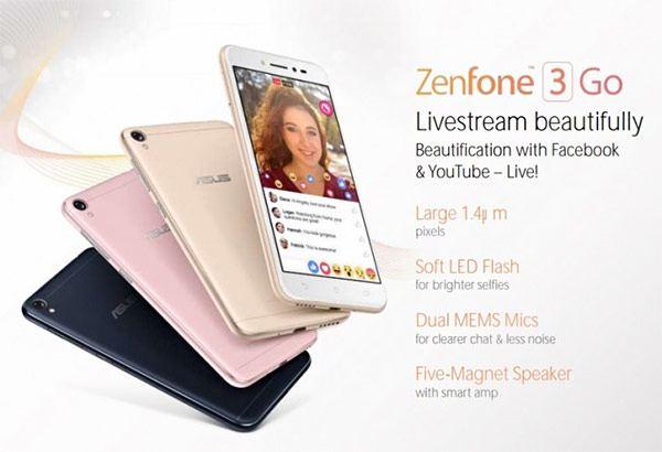 เตรียมเปิดตัว Asus ZenFone 3 Go เผยอาจมาพร้อมฟีเจอร์เด็ด ปรับหน้าเนียนขณะการไลน์สดผ่าน Facebook และ Youtube