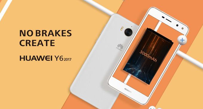 Huawei Y6 2017 สมาร์ทโฟนราคาประหยัดมาสเปคครัน ราคาสบายกระเป๋า