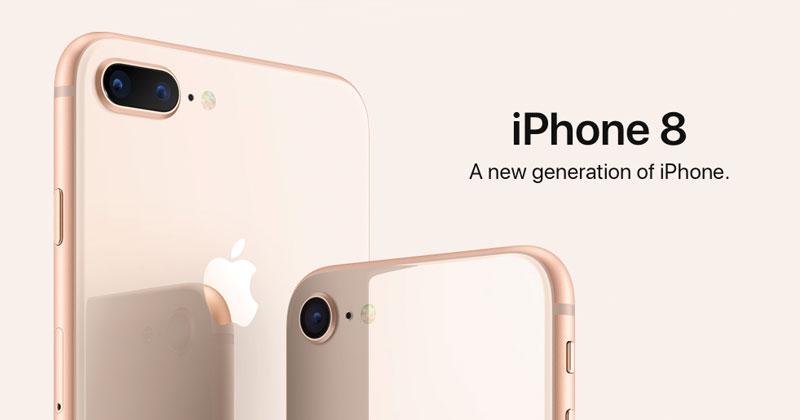 เปิดตัวพร้อมราคา  iPhone , iPhone 8 Plus อย่างเป็นทางการ
