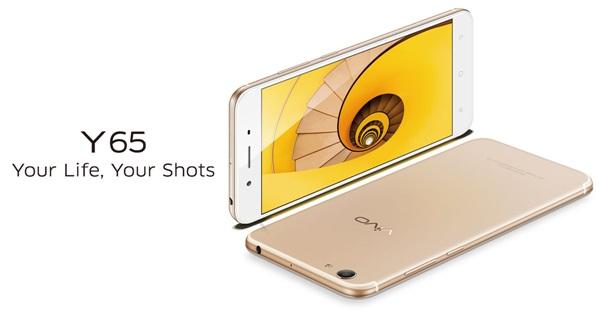 เปิดตัว  vivo Y65 สมาร์ทโฟนหน้าจอ 5.5 นิ้ว ความละเอียด HD, แรม 3GB, กล้องหลัง 13 ล้านพิกเซล ในราคาเพียง  6,999 บาท