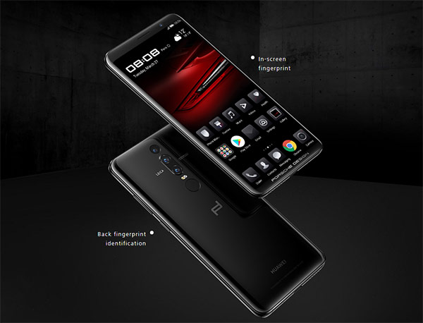 Huawei  Mate RS รุ่น Porsche Design สมาร์ทโฟนเรือธงรุ่นใหม่ ชิปเซ็ต Kirin 970 รุ่นล่าสุด, RAM 6GB+ROM 512GB, กล้อง Leica จัดเต็ม 3 ตัว