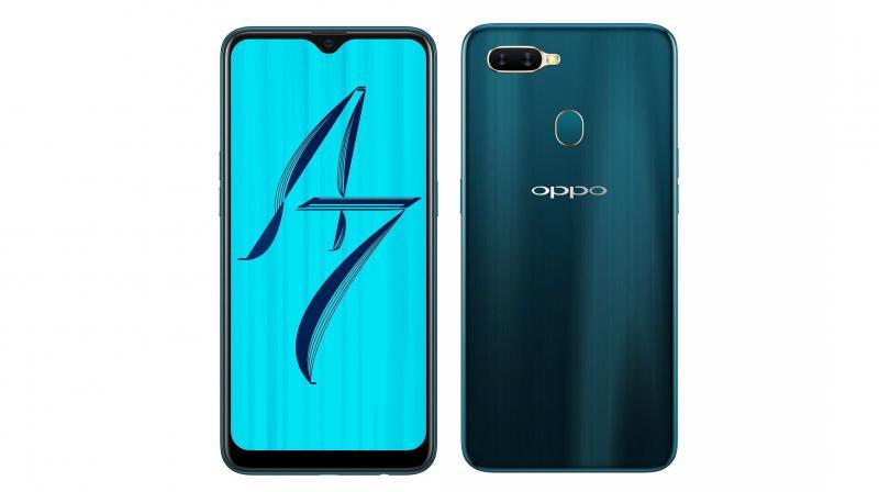 OPPO A7 สมาร์ทโฟนหน้าจอไร้ขอบ ใหญ่ 6.2 นิ้ว กล้องหลังคู่ สแกนลายนิ้วมือ ราคา 6,xxx บาท