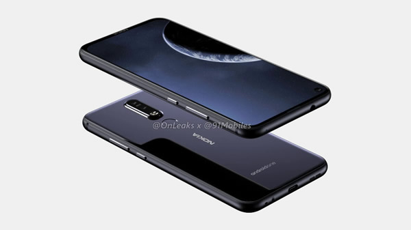 หลุด! ภาพเรนเดอร์ Nokia 8.1 Plus สมาร์ทโฟนดีไซส์สวย พร้อมหน้าจอจอหลุม  กว้าง 6.22 นิ้ว กล้องหน้าฝัง พร้อมกล้องหลังคู่